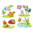 Little inhabitants of the forest vector image vector image