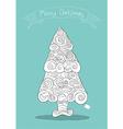 Christmas tree art style with Christmas Hand vector image