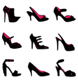 fashion shoes silhouettes vector image