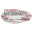 favoring word cloud concept vector image