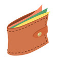 purse icon isometric 3d style vector image