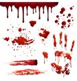 Blood Spatters Realistic Bloodstain Patterns Set vector image vector image