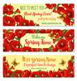 spring flower frame for springtime banner template vector image