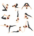 yoga poses set design vector image