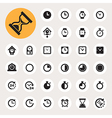 Clocks and time icons set vector image vector image