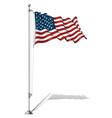 Flag Pole USA vector image