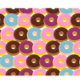 Donuts seamless pattern Chocolate and strawberry vector image