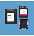flash storage sd card SSD memory vector image