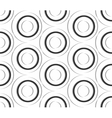 Seamless pattern of paper circles vector image