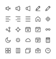 User Interface Colored Line Icons 8 vector image