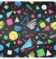 Geometric color chalked seamless pattern vector image
