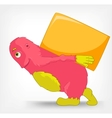 Funny Monster Delivery vector image vector image