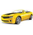 American muscle car convertible vector image