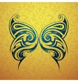 Butterfly tattoo shape vector image