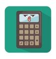 calculator comic character icon vector image