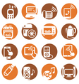 color electronic devices icons vector image