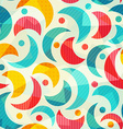 colored semicircle seamless pattern with glass vector image