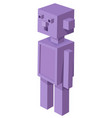cubical droid cartoon character vector image