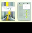 Flyer brochure cover design template vector image