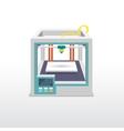 Printing 3d emblem vector image