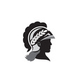 Minerva Head Side Silhouette Retro vector image