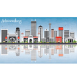 Johannesburg Skyline with Gray Buildings vector image