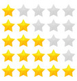 golden stars rating vector image
