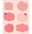 set of different Valentines dey labels design vector image vector image