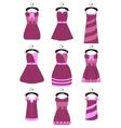 Set of female dresses vector image
