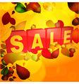 Autumn sale tabs background vector image