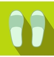 White spa slippers icon vector image