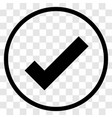check mark rounded icon - iconic design vector image