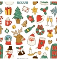 Christmas symbols pattern vector image