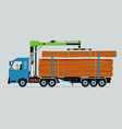 log truck vector image