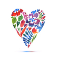 Love card with watercolor floral bouquet Valentine vector image