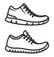 Running shoes icons line vector image