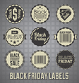 Black Friday Sale Labels and Icons vector image vector image