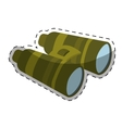 binoculars travel or military icon image vector image