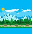 mountain park concept vector image