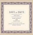 Save the date with border frame Renaissance vector image vector image