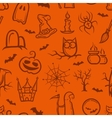 retro graphical Halloween pattern vector image