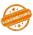 Luxembourg grunge icon vector image