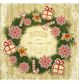 new retro background with christmas garland and to vector image vector image