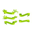 Ribbons with leaves vector image
