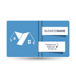 business card for real estate and construction of vector image