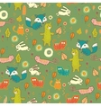 Cartoon cute forest seamless pattern vector image