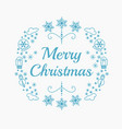christmas icons in blue vector image