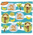 Happy monkey on the safari vector image