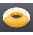Realistic Donut Fast Food Icon Retro Cartoon vector image