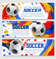 soccer team football championship banners vector image